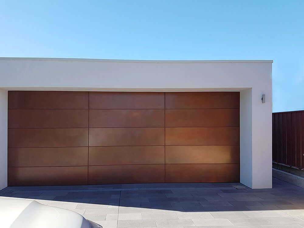Wood elegant garage door modern