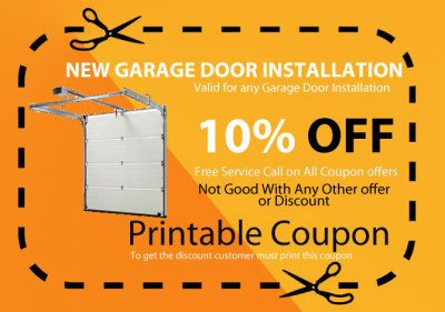 new garage door installation coupon