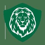 Lion garage door logo