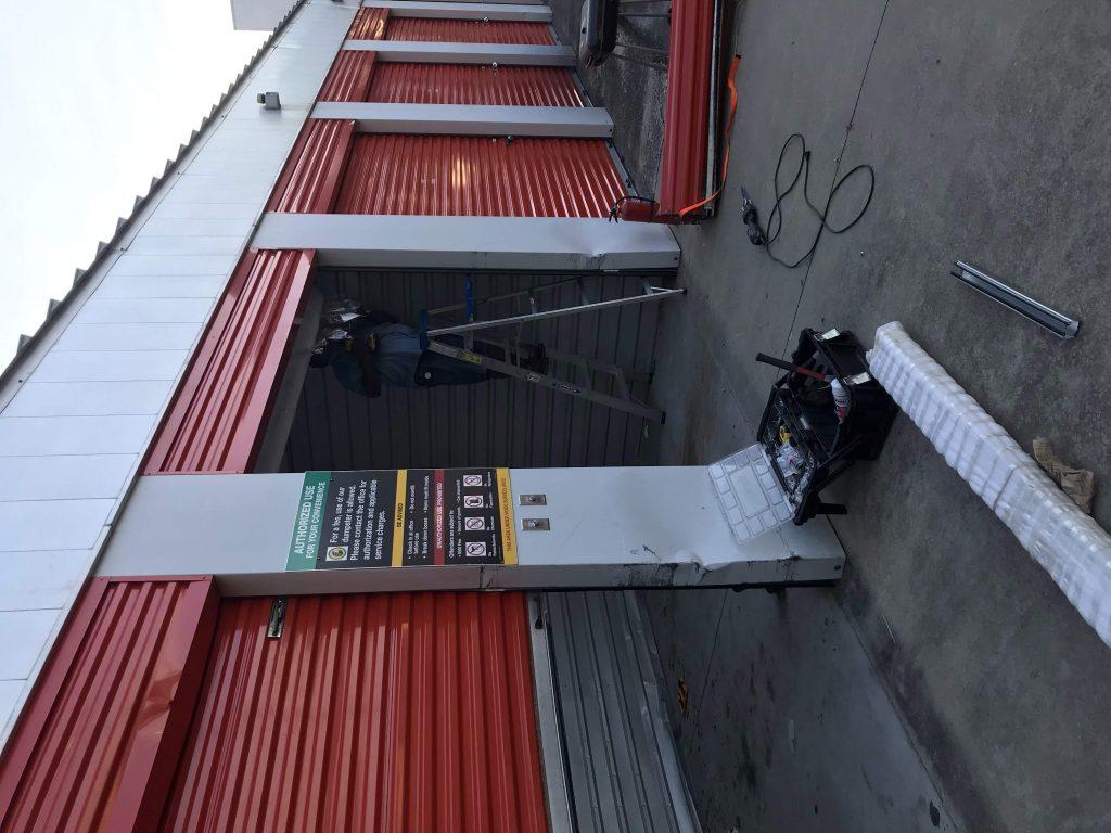 Commercial 3 Uhaul Lion Garage Door Raleigh